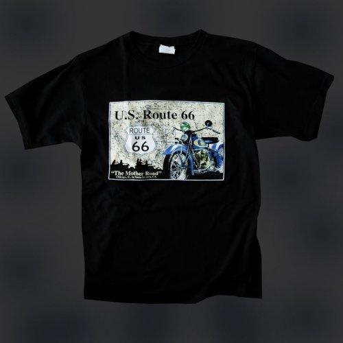 画像クリックで大きく確認できます Click↓2: ルート66 半袖Tシャツ The Mother Road(ブラック)/U.S.Route66 T-shirt