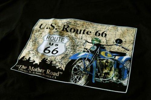 画像クリックで大きく確認できます Click↓1: ルート66 半袖Tシャツ The Mother Road(ブラック)/U.S.Route66 T-shirt