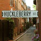 アメリカン ストリート サイン(HUCKLEBERRY ST.)/Street Sign