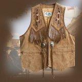 スカリー ウエスタン レザー フリンジ ベスト(バーボン)/Scully Western Leather Fringe Vest