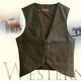 レディース レザーベスト(コーヒーブラウン)XS/Leather Vest(Women's)