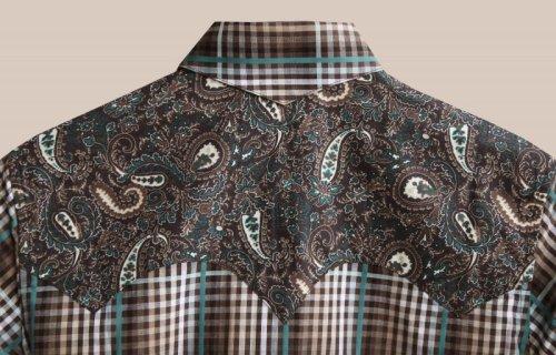 画像クリックで大きく確認できます Click↓2: パンハンドルスリム ウエスタン シャツ ブラウン・ターコイズ (長袖/レディース)/Panhandle Slim Long Sleeve Western Shirt(Women's)
