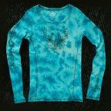 レディース ウエスタンTシャツ ターコイズブルー(長袖)/Women's Western T-shirt(Turquoise Blue)