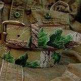 カモ柄レザーベルト/Camo Design Leather Belt