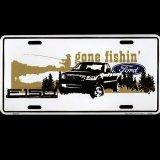 フォード ライセンスプレート ゴーン・フィッシン'/License Plate