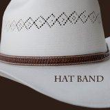 レザー ハットバンド (ブラウン・バスケット)/Hat Band (Brown Basket)