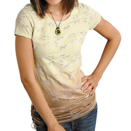 画像クリックで大きく確認できます Click↓1: レディース ウエスタン Tシャツ ホース(半袖)/Women's Western T-shirt
