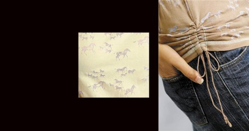 画像クリックで大きく確認できます Click↓2: レディース ウエスタン Tシャツ ホース(半袖)/Women's Western T-shirt
