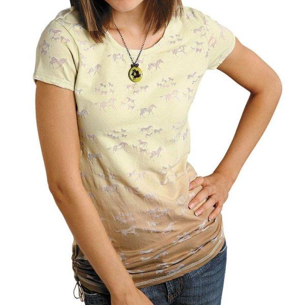 画像1: レディース ウエスタン Tシャツ ホース(半袖)/Women's Western T-shirt