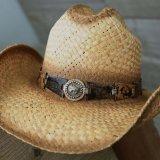 リトル カウボーイ ストローハット・サイズ調整テープ70cmつき(キッズ・ナチュラル)/Lil Cowboy Straw Hat(Natural)