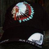 ネイティブプライド キャップ・インディアンチーフブラック/Native Pride Cap Indian Chief