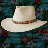 レザーバンド リゾート ストローハット(ナチュラル)/Outdoor Straw Hat