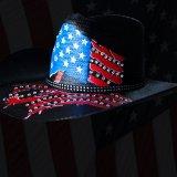 インデペンデンス デイ ストローハット(ブラック)/Western Straw Hat