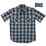 ペンドルトン 半袖 シャツ(ブラック グレー)/Pendleton Short Sleeve Shirt