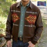 ペンドルトン ウール・レザー ジャケット ブラウン(Pueblo Dwelling)/Pendleton Cassidy Coat