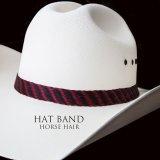 ホースヘアー ハット バンド(レッド ブラック・ブラック)/Horse Hair Hat Band