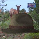 ペンドルトン ウールラインド オイルスキン ハット(ブラウン・ブラウンウオッチ)XL/Pendleton Wool Lined Oilskin Hat