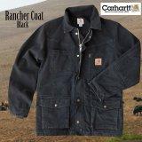 カーハート サンドストーン ランチャーコート ブラックS/Carhartt Sandstone Rancher Coat