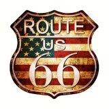 ルート66 アメリカン ビンテージ メタルサイン/Metal Sign Route 66