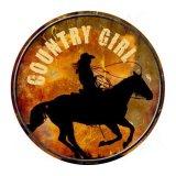 カントリーガール メタルサイン/Metal Sign Country Girl