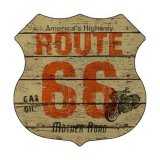 ルート66 ヴィンテージ ハイウエイ メタルサイン/Metal Sign Route 66
