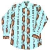 パンハンドルスリム ウエスタンシャツ・ライトターコイズ(長袖)/Panhandle Slim Long Sleeve Western Shirt(Light Turquoise)