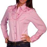 スカリー 刺繍 ウエスタン シャツ(長袖/ピンク)/Scully Long Sleeve Western Shirt(Women's)