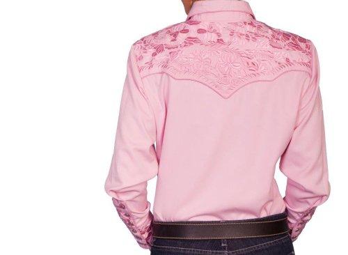 画像クリックで大きく確認できます Click↓2: スカリー 刺繍 ウエスタン シャツ(長袖/ピンク)/Scully Long Sleeve Western Shirt(Women's)