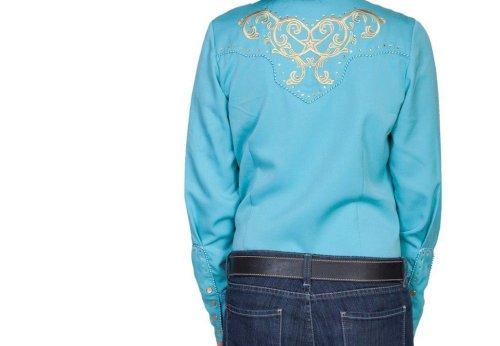 画像クリックで大きく確認できます Click↓2: スカリー 刺繍 ウエスタン シャツ(長袖/ターコイズ・スター)/Scully Long Sleeve Western Shirt(Women's)