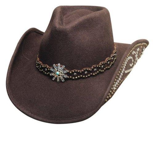 画像クリックで大きく確認できます Click↓1: ブルハイド ウール ハット ユア エブリシング チョコレート/Bullhide Wool Hat(Your Everything)