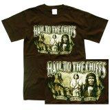 インディアン チーフ デザイン 半袖Tシャツ(ブラウン)/T-shirt(Native American Design)