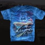 ルート66 半袖Tシャツ(デニム)/Route66 T-shirt