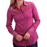 フローラル 刺繍 ウエスタン シャツ(長袖/ピンク)/Long Sleeve Western Shirt(Women's)