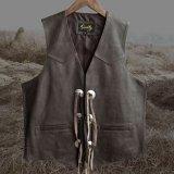 スカリー ウエスタン レザー&コンチョ ベスト(ブラウン)L/Scully Western Concho Vest(Brown)