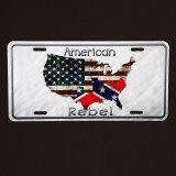 アメリカン レベル マップ・星条旗&南軍旗 ライセンス プレート/License Plate