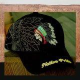 ネイティブプライド キャップ・インディアンデザイン・ブラック/Native Pride Cap Indian