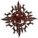ディアー&ツリー クロック 68cm(壁掛け時計)/Clock(Deer)