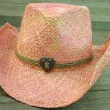 ピンク ストロー ハット/Pink Straw Hat(Women's)