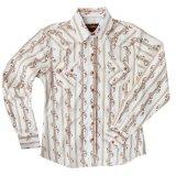 ウエスタン シャツ フラワーストライプ(長袖)/Long Sleeve Western Shirt(Women's)