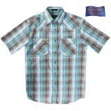 ペンドルトン 半袖 ウエスタンシャツ ターコイズ・ブラウン/Pendleton Shortsleeve Western Shirt