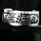 ホピ オーバーレイ ブレスレット ココペリ/925 Silver Bracelet Hopi