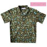 カリフォルニア トロピック USA キャンプシャツ(フィッシング・フォレストグリーン)/California Tropic Camp Shirt