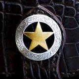 スター コンチョ 37mm シカゴスクリュー(ゴールド&シルバー)/Concho Chicago Screw(Star)