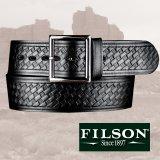 フィルソン ブライドルレザー ベルト ブラック/Filson Bridle Leather Belt(Black)
