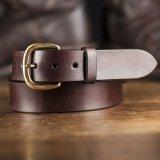 """ファニー 38mm ハーネス ベルト(ブラウン)/Funny 1-1/2""""Harness Belt(Brown)"""