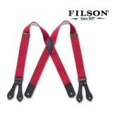 フィルソン タブ サスペンダー(レッド)/Filson Tab Suspenders(Red)