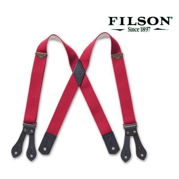 画像1: フィルソン タブ サスペンダー(レッド)/Filson Tab Suspenders(Red)