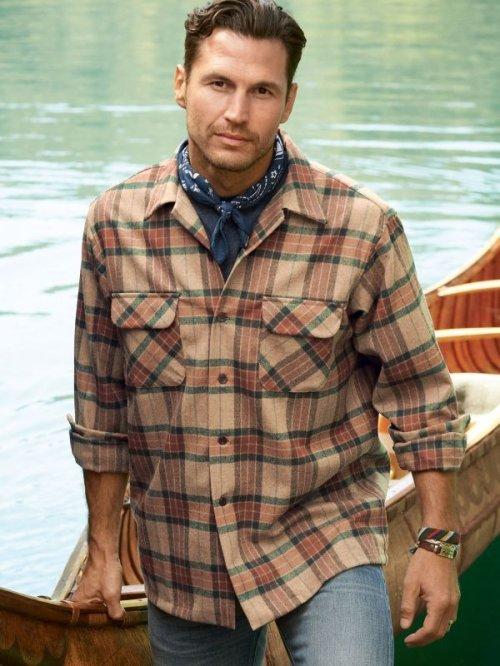 画像クリックで大きく確認できます Click↓3: ペンドルトン ウールデニム フィッテッド ボードシャツ(ブルーデニム)/Pendleton Fitted Board Shirt