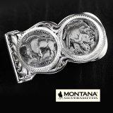 モンタナシルバースミス マネークリップ バッファロー&インディアン/Montana Silversmiths Buffalo Indian Nickel Scalloped Money Clip