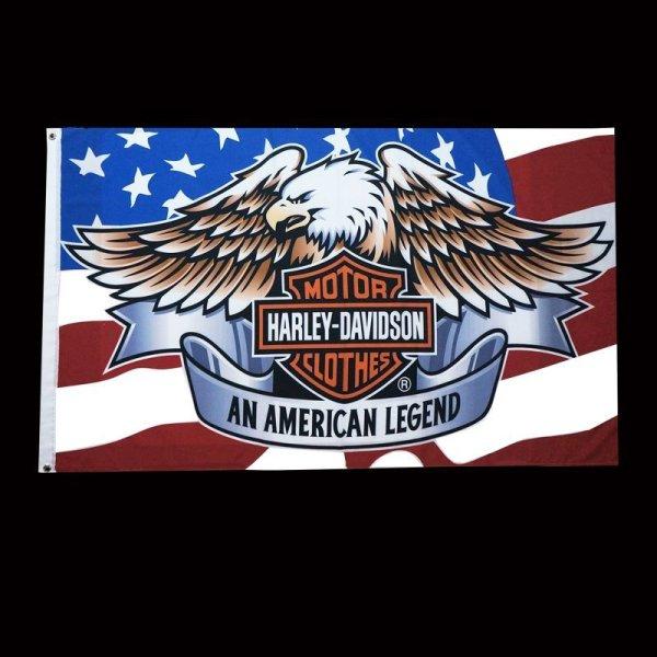 画像1: ハーレーダビッドソン フラッグ/Harley Davidson Flag